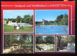 CPM Allemagne EMSDETTEN Stadtpark Und Waldfreibad Multi Vues - Steinfurt