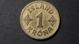 Iceland - 1940 - 1 Krone - KM 3 - VF - Look Scans - Island