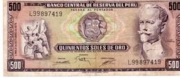 Peru P.110  500 Soles 1975 Xf - Perù