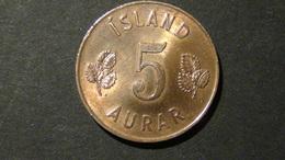 Iceland - 1963 - 5 Aurar - KM 9 - VF - Look Scans - Island