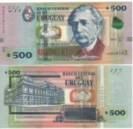 URUGUAY  New  500 Pesos Uruguayos Pnew  2014 (2015)  Map Of Uruguay  UNC - Uruguay