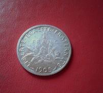 FRANCE 1 FRANC SEMEUSE 1905 - Frankreich