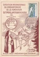Carte Expo Internationale 50 Ans Fondation Timbre Antituberculeux à Reims 13 Nov 1954 - Reims