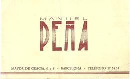 Manuel Pena   Barcelona Carte De Visite - Tarjetas De Visita