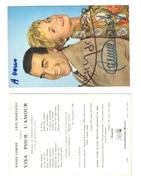Visa Pour L'amour .Annie Cordy  Luis Mariano. Carte Dédicacée - Entertainers