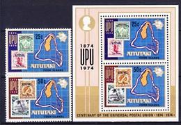 AITUTAKI 1974 YT N° 113 Et 114 + BF 2 **