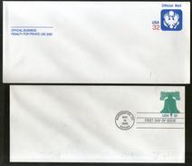 USA 2 Different Postal Stationary Envelope Mint # 6541 - Stamps