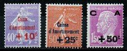 1926 FRANCE Caisse D'Amortissement N°249-250-251  Neufs **