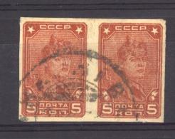 Russie  :   Mi  369 BXc  (o)  Braun , Paire