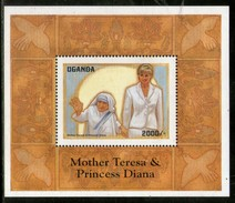 Uganda 1998 Princess Diana Mother Teresa India Noble Prize Winner M/s MNH # 5049 - Mother Teresa