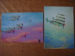 Lot De 3 Cartes : AVION Aviation Vliegtuig Luchtvaart Plane : Battle Of Britain : MESSERSCHMITT 109 / Heinkel Bombers - 1939-1945: 2ème Guerre
