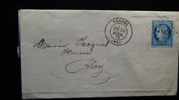 Lettre Enveloppe - GC 4169 Sur 25c Cérès - Année 1872 - 1849-1876: Classic Period