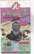Plaquettes Rigides Lancement  JOHNNY HALLYDAY; A TOUT CASSER 68 / Hey Joe.... - Werbung