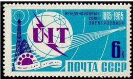 USSR, 1965 SK № 3083 100 YEARS THE INTERNATIONAL TELECOMMUNICATION UNION