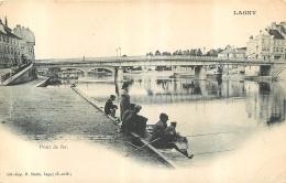 LAGNY SUR MARNE PONT DE FER ET PECHEURS A LA LIGNE - Lagny Sur Marne