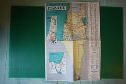 TN GALILEO GALILEI - VIAGGIO INAUGURALE - CARTA ISRAELE  - 1963 - Carte Topografiche