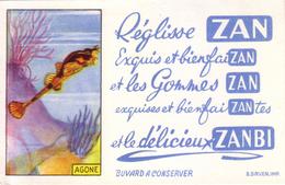 """Série Complète De 16 Buvards Publicitaires Différents """"ZAN"""". Illustrations En Chromo. Très Beau Lot. TB état. 16 Scan"""