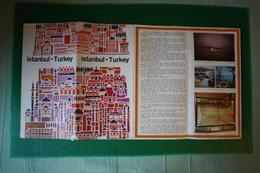 TN GALILEO GALILEI - VIAGGIO INAUGURALE - DEPLIANT CON MAPPA ISTANBUL  - 1963 - Carte Topografiche