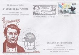 Enveloppe 1er Jour De La Flamme Jacquesson Chalons S/Marne 15-10-1994 Dessin De R. Irolla - Other