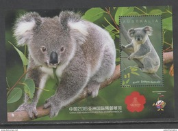 AUSTRALIA, 2016, MNH,KOALAS,  CHINA EXHIBITION,  S/SHEET