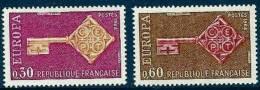 """Yt 1556 Et 1557 """" Europa """" 1968 Neuf** - France"""