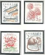SUECIA 1985 - FAUNA Y FLORA - YVERT Nº 1304-1307**