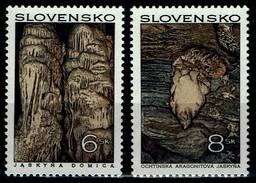 Slowakei Slovensko 1997 - MiNr 280-281 - Schönheiten Der Heimat (III): Höhlen - Slovaquie