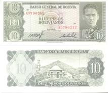 BANCO CENTRAL DE BOLIVIA BILLETE BILLET - 10 PESOS BOLIVANOS IMPRESOR THOMAS DE LA RUE & COMPANY LIMITED TRES BON ETAT - Bolivia