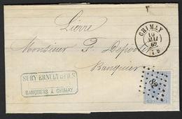 18A Sur Lettre De Chimay à Lierre LP 82 Cachet à Date DC 10 Mai 1869 (Nic 405)