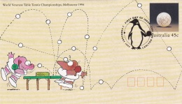 Australia Postal Stationary 1994 World Veterans Table Tennis Championships Melbourne - Used (T7A5)