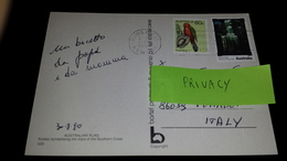 AUSTRALIA 1990 Parrot Mount Field Falls Wallaby New Ungummed Unused Letter Airmail To Italy Usato Used On COMPLETE COVER