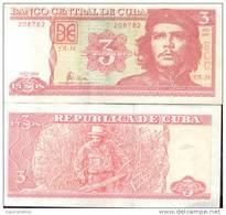 ERNESTO CHE GUEVARA - CUBA - BILLETE DE TRES PESOS - AÑO 2004 RARE - ERNESTO GUEVARA AL DORSO SUCRE CAÑA DE AZUCAR SUGAR - Cuba