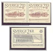 SUECIA 1985 - EUROPA CEPT - MUSICA - YVERT Nº 1310-1311a**
