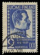 Finland Scott #213, 3m Ultramarine (1937) Gustaf Mannerheim, Used