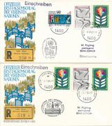 WIEN - 11 Belege , 10 Dabei 10 R-Briefe - Wien - Internationales Zentrum