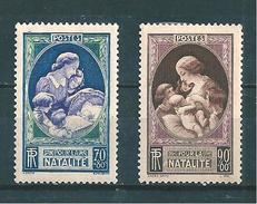 France Timbres De 1939  N°440/41  Neufs **  Sans  Charniére Cote 16 € - France