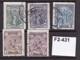 Czechoslovakia 1920 Millenary Of The Death Of King Wenceslas 5 Values Complete