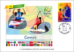 ARGELIA 2016 - FDC Olympic Games Rio 2016 Canoe Canoeing Sprint Olympische Spiele Olímpicos Olympics JO - Kano