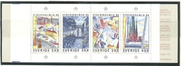 SUECIA 1985 - EXPO STOCKOLMIA '86 - YVERT Nº 1316-1319 CARNET