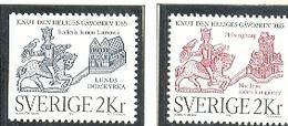 SUECIA 1985 - DONACION DE SAINT KNUT A LA CATEDRAL DE LUND - YVERT Nº 1322-1323**