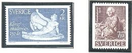 SUECIA 1985 - 250 AÑOS DE LA ACADEMIA DE BELLAS ARTES - YVERT Nº 1329-1330**