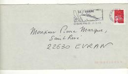 Enveloppe Oblitération LE HAVRE PPAL CC 25/11/2003 - Storia Postale