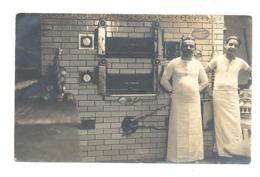 Photo Carte D'un Fournil D'une Boulangerie - Four, Boulanger - Liège, Verviers ?? (1946)b30 - Artisanat