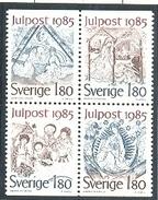 SUECIA 1985 - NAVIDAD - NOEL - CHRISTMAS - YVERT Nº 1342-1345**