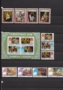 Samoa - Peintures De Noëls Et Bicentenaire De L'Indépendance Américaine