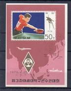 Korea,Nord   1976  MiNr. 1488 (Block 23)  O/ Used ; Tischtennismeisterschaften In Pjöngjang