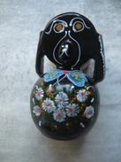 130 - Chien En Bois Laqué Noir - Peint à La Main - Art Asiatique