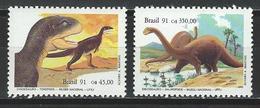 Brasilien, Mi 2417-18 ** MNH Tyrannosaurus, Apatosaurus