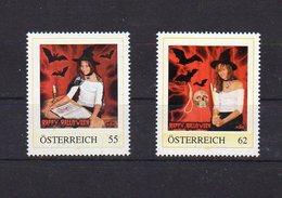 Personalisierte Briefmarken 'Halloween 2010 Und 2012', 'Hexe Nicole', Mit Hintergrundinformation (sehe Scans) - Private Stamps