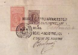 CONSOLATO D'ITALIA A PITTSBURGH  CON MARCHE DA BOLLO  LEGALIZZAZIONI L. 4 E FIRMA AUTOGRAFA CONSOLE CASTRUCCI 1927 - Documenti Storici